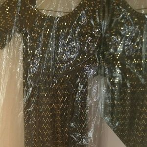 Ashley Stewart Dresses - Black and Gold Dress